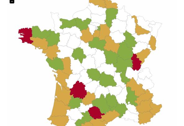 Carte de France des communes qui ont refusé le compteur Linky