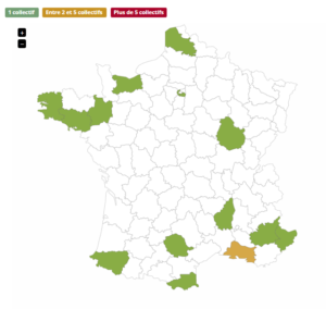 Carte de France des collectifs stop-Linky Aquitaine